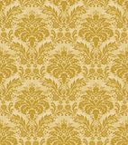 Golden Damask Pattern Stock Photos