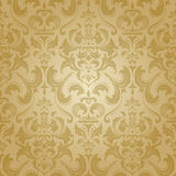 Golden damask seamless floral pattern. Stock Image