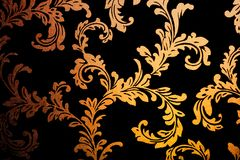 Golden damask wallpaper Stock Images