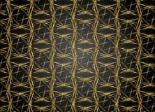 Golden and Dark pattern vintage backgrounds for design. Royalty Free Stock Image