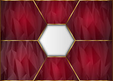 Golden and Dark polygon abstract background. Royalty Free Stock Photography