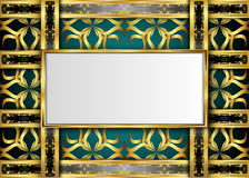 Golden and Dark vintage Background. Stock Photos