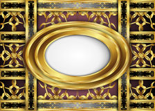 Golden and Dark vintage Background. Royalty Free Stock Photo