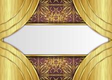 Golden and Dark vintage Background. vector illustration