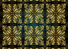 Golden and Dark vintage pattern. Royalty Free Stock Images