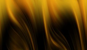 Golden dark waves like shapes, abstract background. Golden and dark waves like shapes and forms, abstract background and hypnotic texture Stock Photo