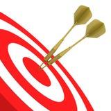 Golden Darts Stock Image