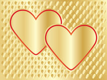 Golden Day of Valentine background Stock Photo