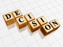 Golden decision Royalty Free Stock Images