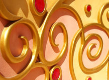 Golden decoration Stock Images