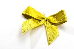 Golden decoration. Gold Bow for decoration Stock Image