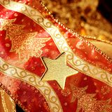 golden decoration with gold star Stock Photography