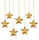 Golden decoration stars Royalty Free Stock Photography