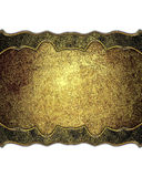 Golden decoration. Template for design. copy space for ad brochure or announcement invitation, abstract background. Golden decoration. Template for design. copy Stock Images