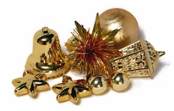 Golden Decorations Stock Images