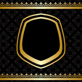 Golden decorations on black vector background Stock Photo