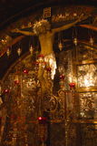 Golden decorations of Golgotha Stock Photo