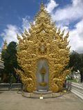Golden decorations in Wat Rong Khun, White Temple in Chiang Rai Province, Thailand royalty free stock photos
