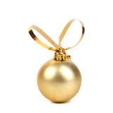 Golden decorativ christmas ball. Royalty Free Stock Images
