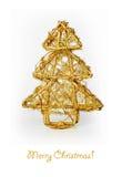 Golden decorative Christmas tree Royalty Free Stock Image