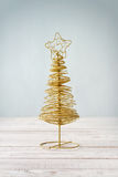 Golden decorative christmas tree Royalty Free Stock Photo