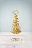Golden decorative christmas tree Royalty Free Stock Photo