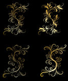 Golden decorative design elements Royalty Free Stock Photo