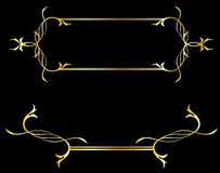 Golden decorative design elements Stock Photography