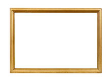 Golden decorative empty picture frame Stock Image