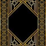 Golden decorative frame design Stock Photography
