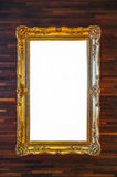 Golden decorative frame Stock Photography