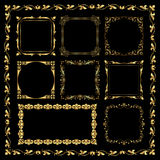 Golden decorative frames - vintage style Royalty Free Stock Image