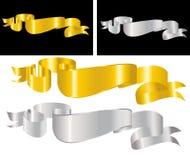 Golden decorative ribbon Stock Photos