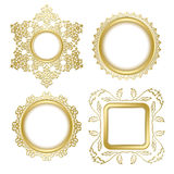 Golden decorative vector frames with transparent shadow inside Stock Image