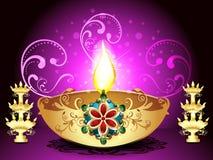 Golden Deepak Background Royalty Free Stock Images