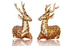 Golden deer Royalty Free Stock Images
