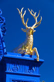 Golden Deer in the royal park Djurgarden,Stockholm Stock Images
