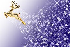 Golden deer and star shape background Stock Images