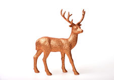 Golden deer. Toy on white background Stock Image
