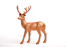 Golden deer. Toy on white background Stock Photography