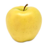 Golden Delicious Apple. Isolated on white royalty free stock photo