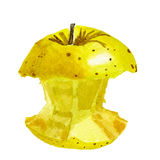Golden Delicious apple core Royalty Free Stock Photo