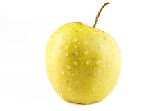 Golden delicious apple on white background Royalty Free Stock Photo