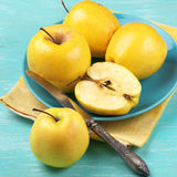 Golden Delicious apples Stock Photo