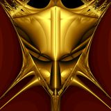 Golden demon mask Stock Images
