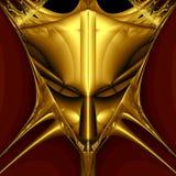 Golden demon mask. On black background. Computer generated image Stock Images