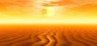 Golden desert Royalty Free Stock Photography