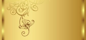 Golden design background 1/2 Stock Images