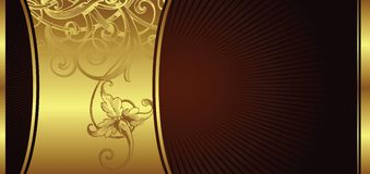 Golden design background 2/2 Royalty Free Stock Images
