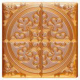 Golden Design elements. Arabesque. 3D illustration. I did in 3D software Stock Photos